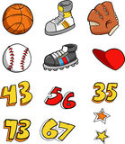 Sports Element Set. Vector Illustration Stock Images