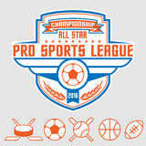 Sports emblem Stock Photo