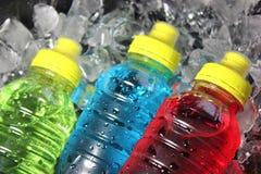 Sports energy drinks on ice.
