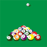 Sports, entertainment,  American billiards. Royalty Free Stock Photography