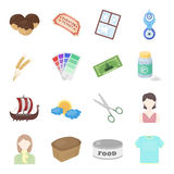 Sports, entertainment, hobby and other web icon in cartoon style.preserves, box, foodball icons in set collection. Royalty Free Stock Photo