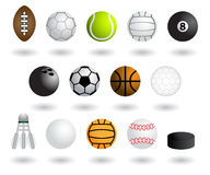 Sports equipment. Balls and equipment for various sports Royalty Free Stock Photo