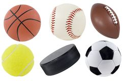 Sports Equipment. Picture of isolated sports equipment Royalty Free Stock Photos