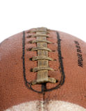 Sports Equipment. A well used football, Isolated on white Stock Photo