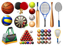 Sports equipment and balls Stock Image