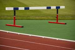 Sports equipment barrier. At the stadium Stock Image