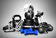 Sports equipment for bodybuilding royalty free stock photo