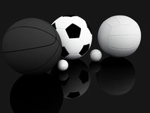 Sports Equipment. 3D illustration Royalty Free Stock Photography