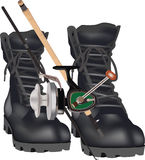 Sports equipment fishing  Royalty Free Stock Photography