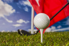 Sports equipment, golf Royalty Free Stock Photography