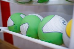 Sports equipment gum balls. With different colours Royalty Free Stock Photo