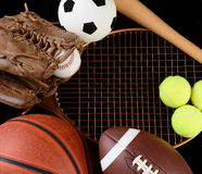 Sports equipment royalty free stock images