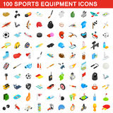 100 sports equipment icons set, isometric 3d style. 100 sports equipment icons set in isometric 3d style for any design vector illustration Royalty Free Stock Image