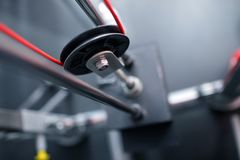 Sports Equipment. Individual elements of a sports simulator Stock Images