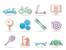 Sports equipment and objects icons Royalty Free Stock Photography