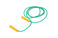 Sports equipment rope. Green and yellow Royalty Free Stock Image