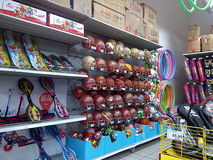 Sports equipment sales, in shopping malls Royalty Free Stock Photography
