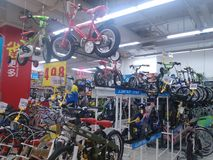 Sports equipment sales, in shopping malls Stock Photography