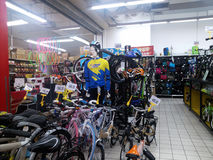 Sports equipment sales, in shopping malls Stock Photo
