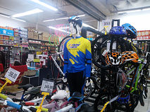 Sports equipment sales, in shopping malls Stock Images