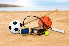 Sports equipment stock photography
