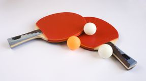 Sports Equipment for Table Tennis. Isolated on White Background Royalty Free Stock Photo
