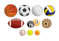 Sports Equipment. Vector illustration graphic Sports Equipment Royalty Free Stock Image
