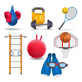 Sports equipment. Vector illustration Royalty Free Stock Images