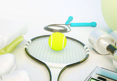 Sports equipment on white Stock Photography