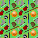 Sports equipments seamless background design1 Stock Images