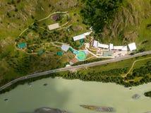 Sports et base de touristes avec des piscines et a récréationnel photographie stock