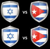 Sports et confrontation militaire entre les pays illustration libre de droits