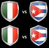 Sports et confrontation militaire entre les pays illustration de vecteur