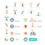 Sports et illustrations de personnes de santé Image stock