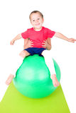 Sports with exercise ball Royalty Free Stock Image