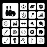 Sports and exercise icons set Royalty Free Stock Photo