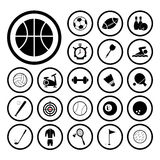 Sports and exercise icons set Royalty Free Stock Image