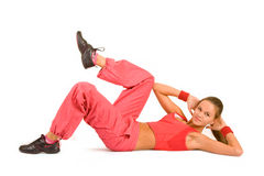 Sports exercises Stock Photography