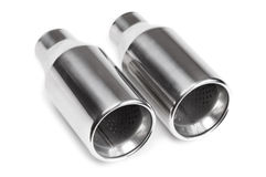 Sports exhaust pipe. For  Car  Tuning  Accessories Royalty Free Stock Image