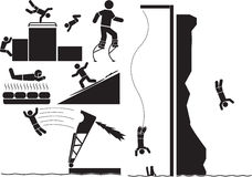Sports extrêmes illustration libre de droits