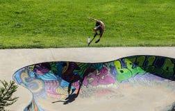 Sports extrêmes dans le sportsground, ville de bellingen, Australie Images libres de droits