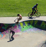 Sports extrêmes dans le sportsground, ville de bellingen, Australie Photographie stock