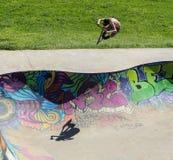 Sports extrêmes dans le sportsground, ville de bellingen, Australie Images stock