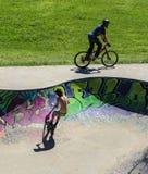 Sports extrêmes dans le sportsground, ville de bellingen, Australie Image stock