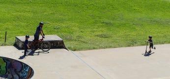 Sports extrêmes dans le sportsground, ville de bellingen, Australie Photos libres de droits