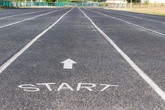 Sports facility. Running track Royalty Free Stock Image