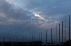 Sports facility in Sochi. Before the rain Stock Images