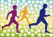 Sports Familie Lizenzfreie Stockbilder