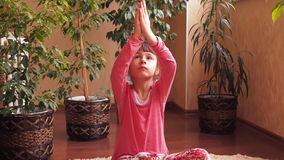 Sports family, yoga stock footage  Video of child, house