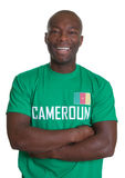 Sports fan from Cameroon with crossed arms Stock Photography